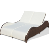 Picture of Outdoor Furniture Double Bed Sunlounger Poly Rattan - Brown