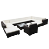 Picture of Outdoor Furniture Set Garden Lounge Set PE Wicker Poly Rattan - Brown 12 pcs