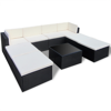 Picture of Outdoor Furniture Set Rattan Wicker Sectional Sofa - Black