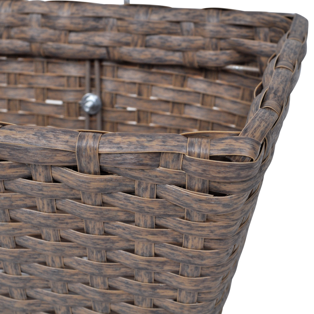 """Picture of Outdoor Hanging Rattan Planter Set 30""""- 2 pcs Brown"""