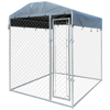 """Picture of Outdoor Heavy-duty Dog Kennel with Canopy Top 79"""" x 79"""" x 93"""""""