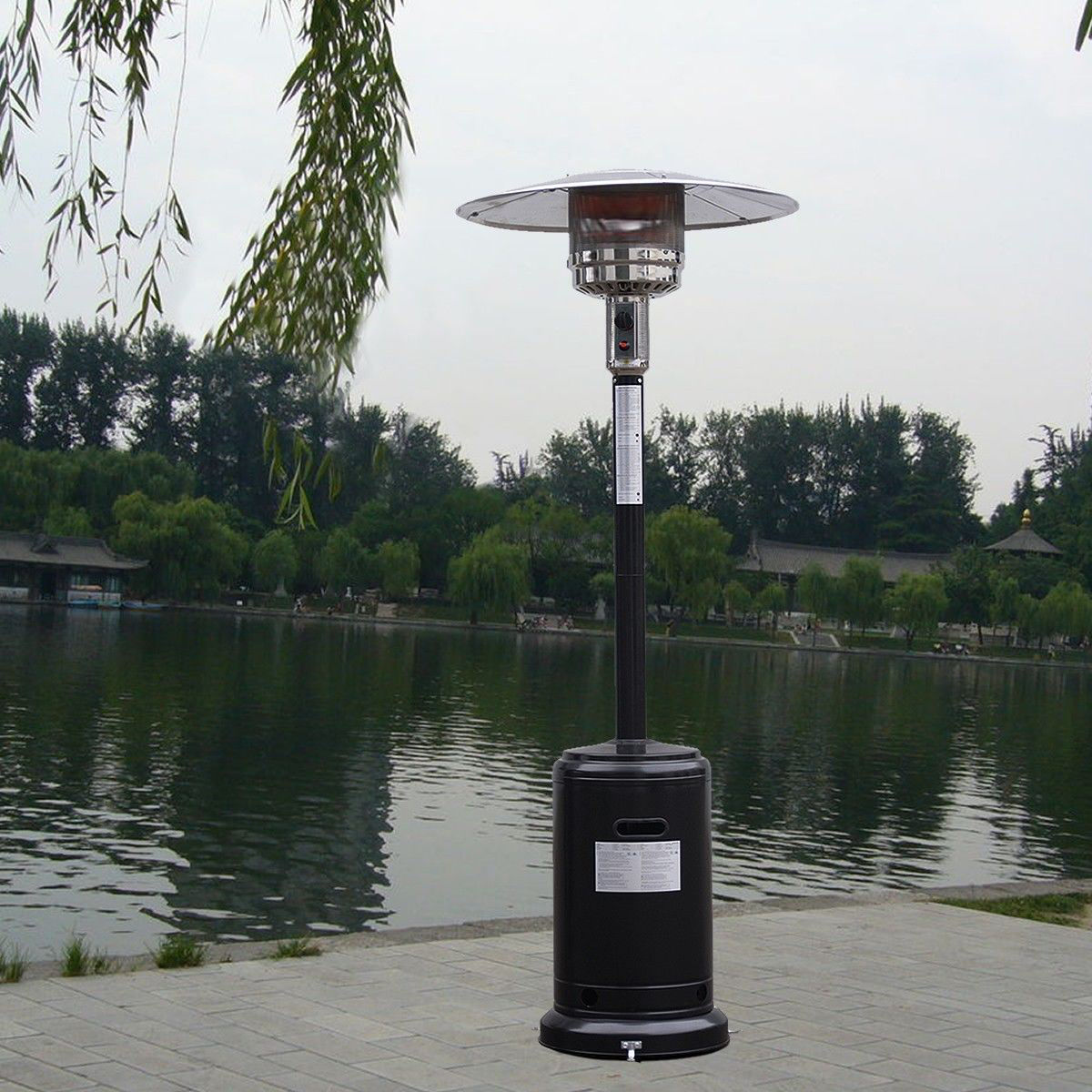 Picture of Outdoor Patio Heater Propane Standing LP Gas Steel with accessories
