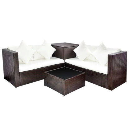 Picture of Outdoor Lounge Set - Brown