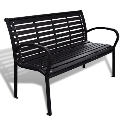 Picture of Outdoor Patio Bench with Steel Frame