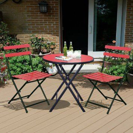 Picture of Outdoor Patio Folding Bistro Table Chair Set