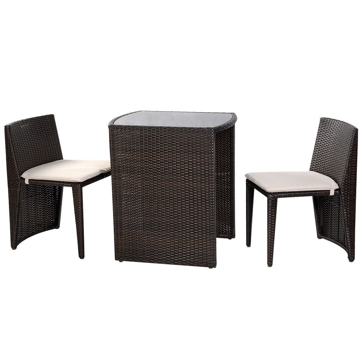 Picture of Outdoor Patio Furniture Seat - 3 Pcs Brown