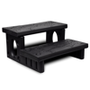 Picture of Outdoor Patio Spa Steps Non-Slip Plastic Multipurpose - Black