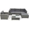 Picture of Outdoor Poly Rattan Garden Sofa Set  - Gray 17 Piece