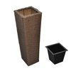 Picture of Outdoor Rattan Flower Pots - Brown 3 Psc