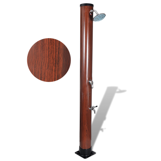 Picture of Outdoor Solar Shower Stand with Hot and Cold Rinse Spray