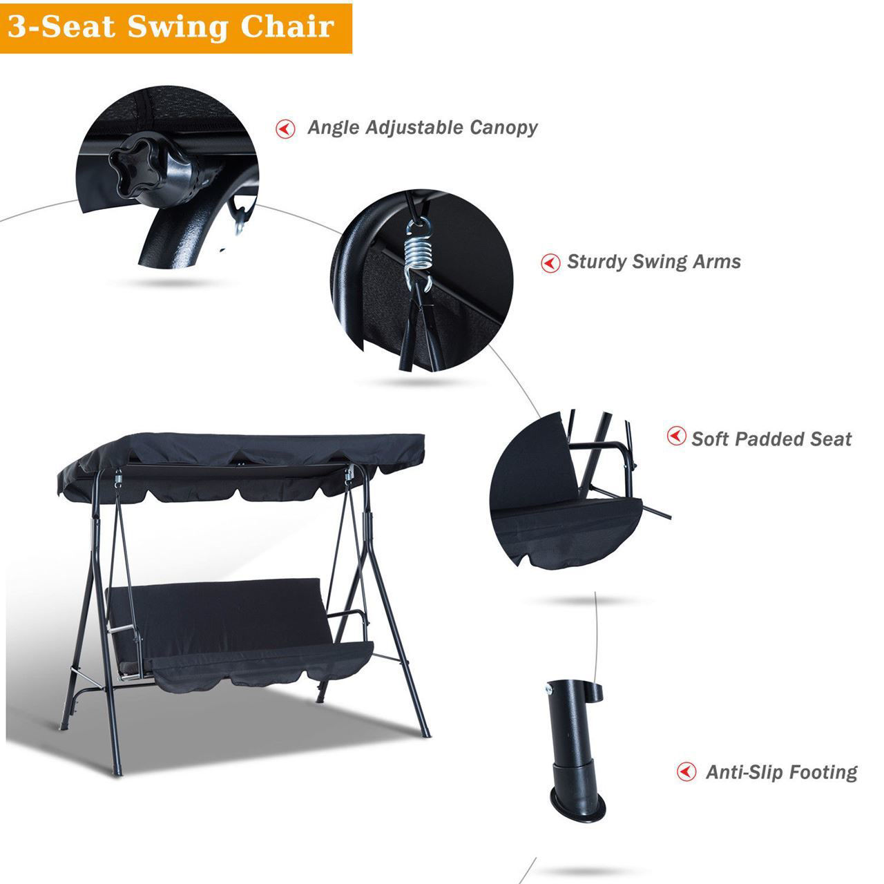 Picture of Outdoor Swing - Black
