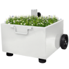 Picture of Outdoor Umbrella Stand Plant Pot - White