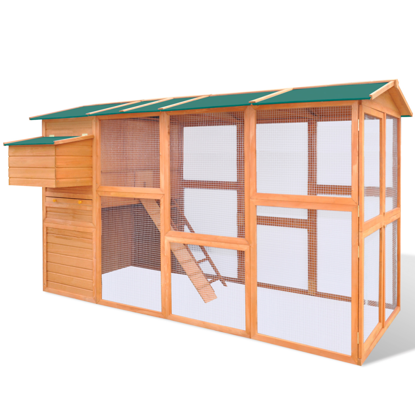 "Picture of Outdoor Wooden 114"" Chicken Coop"