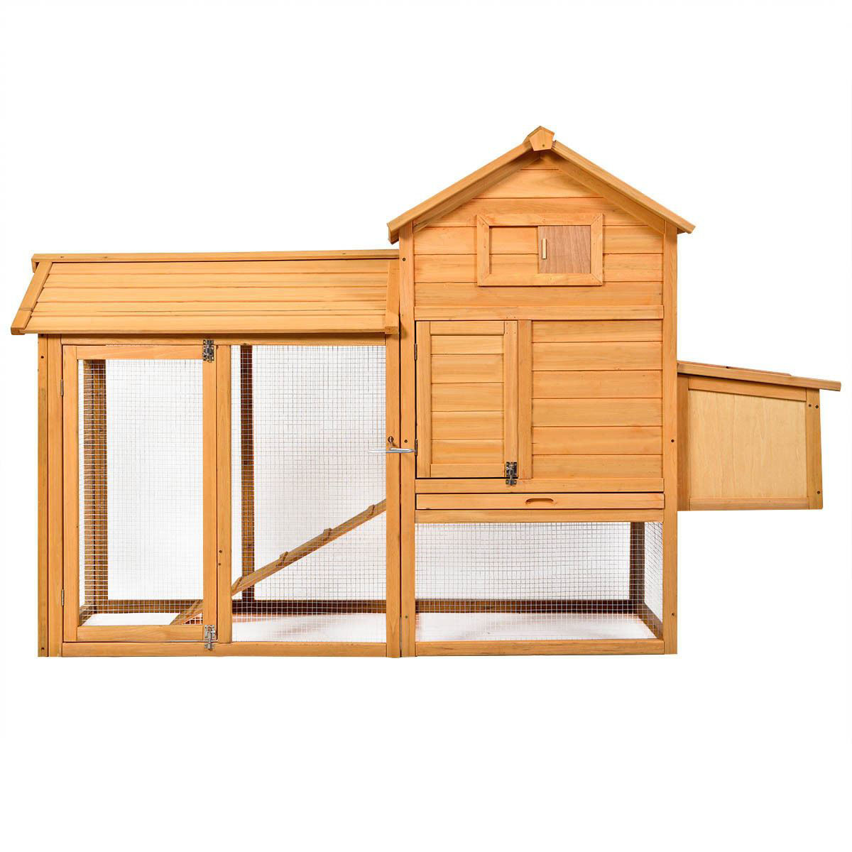 Picture of Outdoor Wooden Chicken Coop with Fire Fence 80""