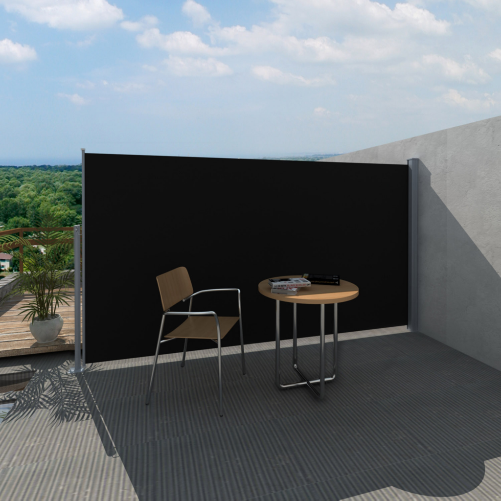 """Picture of Patio Terrace Side Awning 71""""x118"""" Black"""