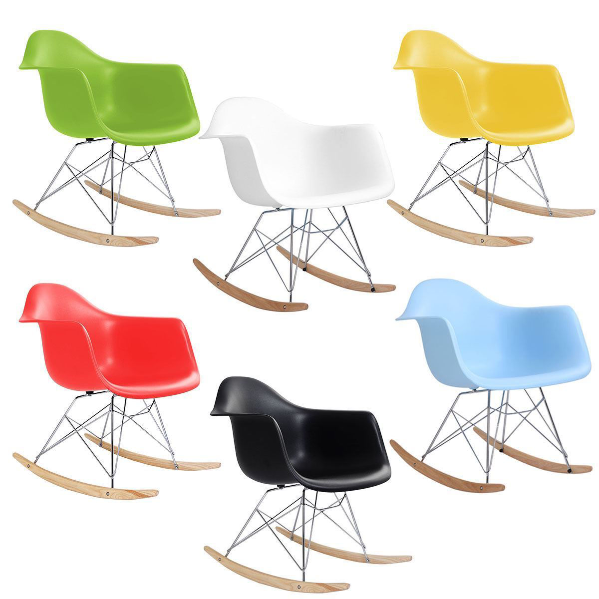 Picture of Plastic Rocking Arm Chair Mid Century Modern Molded