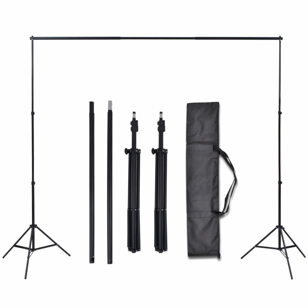 Picture of Photo Studio Kit 3 Cotton Backdrops Adjustable Frame 10x16.4 ft