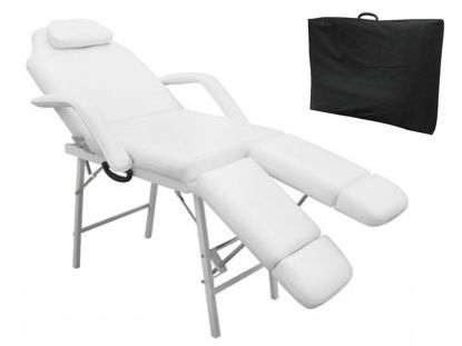 "Picture of Portable Massage Tattoo Bed Chair 75"" - White"