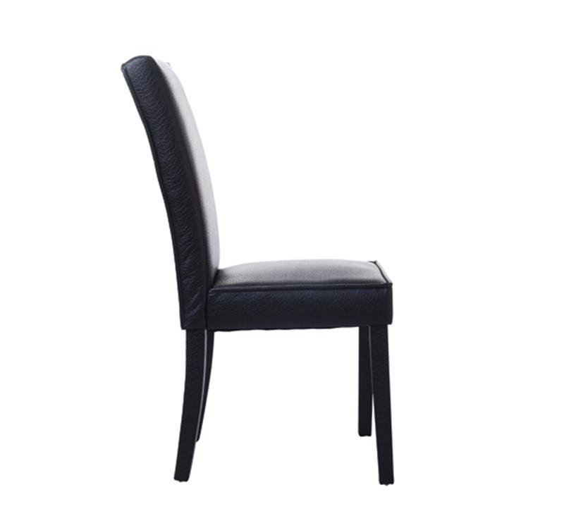Picture of PU Leather Contemporary Parson Dining Chair - Black