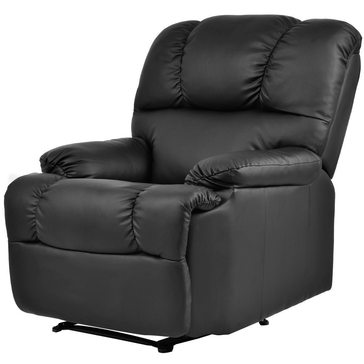 Picture of Recliner Heated Massage Chair With Control Black