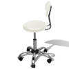 Picture of Salon Spa Stool Round Seat with Backrest - White
