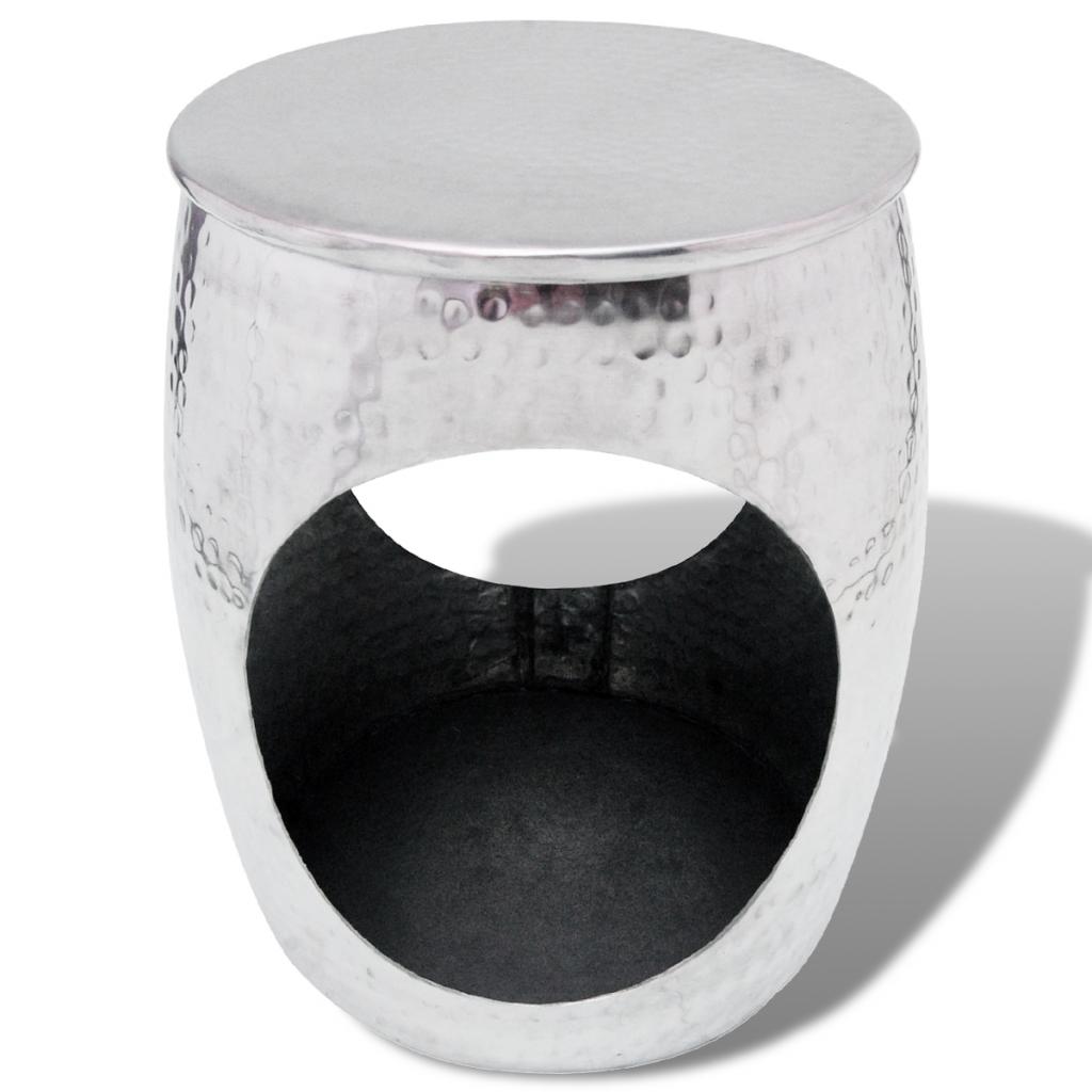 Picture of Side Table / Hocker Barrel Shape - Aluminum Silver