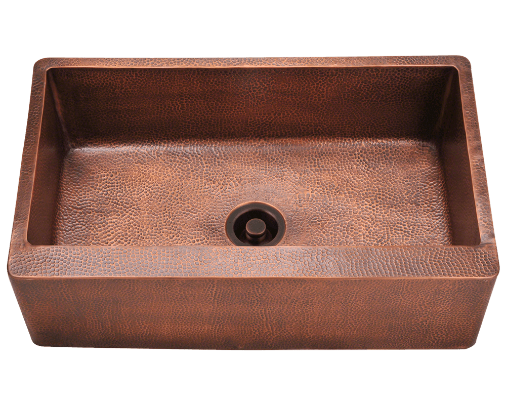 Picture of Single Bowl Copper Apron Sink