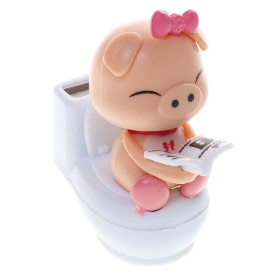 Picture of Solar Powered Flip Flap Dancing Bobble Head Pig Toy