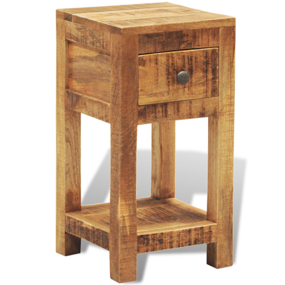 Picture of Solid Wood Display Side Table Nightstand with 1 Drawer
