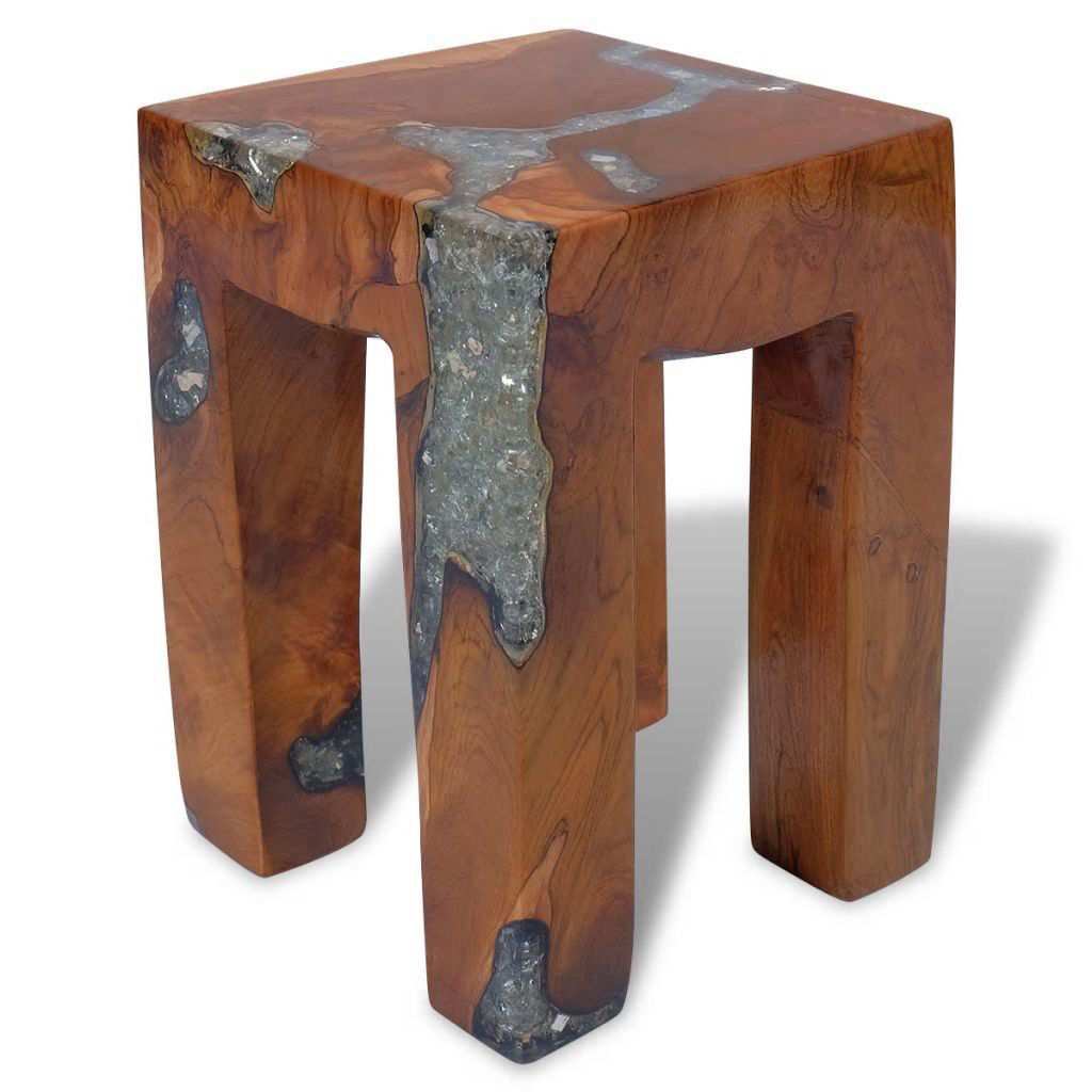"""Picture of Wooden Accent Stool 11"""""""