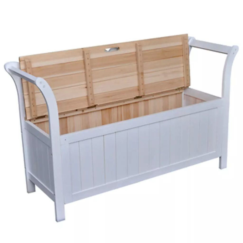 Picture of Storage Bench 49.6x16.5x29.5 Wood White