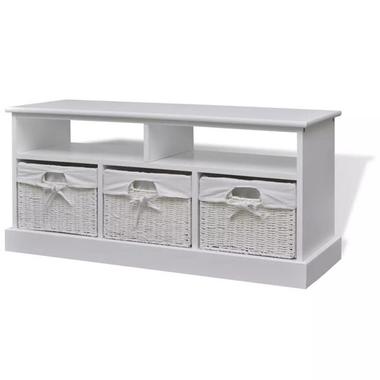 Picture of Storage Bench Aarau - White