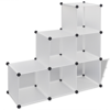 "Picture of Storage Cube Organizer with 6 Compartments 43"" - White"