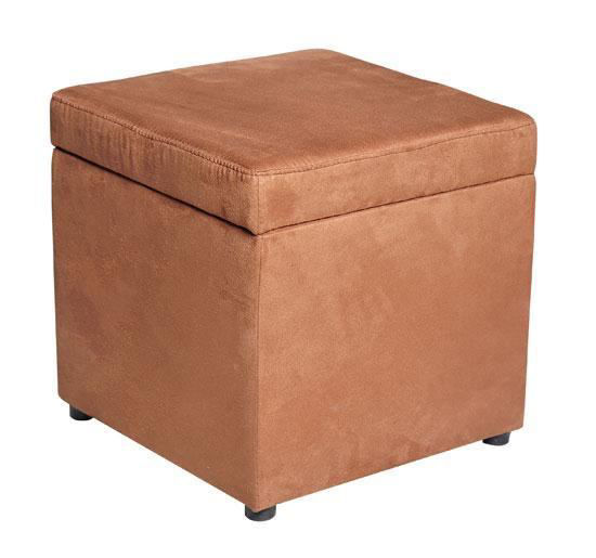"Picture of Storage Ottoman 16"" Micro Fiber Foot Stool - Brown"