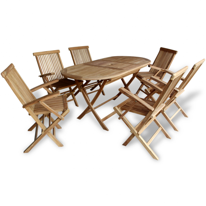 Picture of Teak Seven Piece Outdoor Dining Set