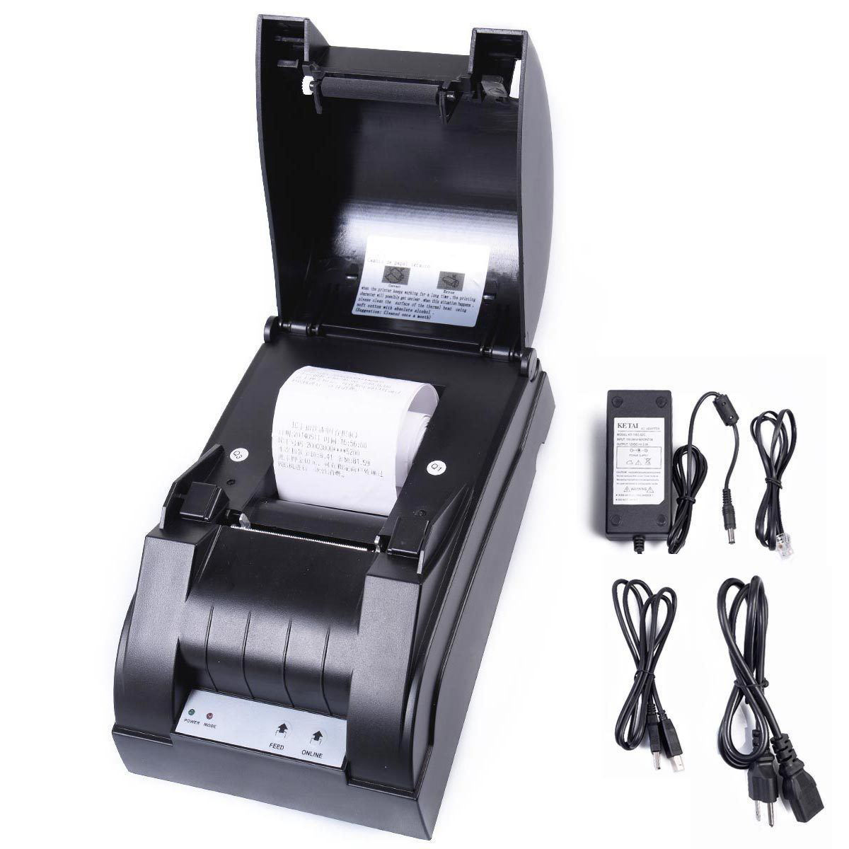 Picture of Thermal Dot Receipt Bill Printer Set Roll Paper 384 line USB Mini 58mm POS