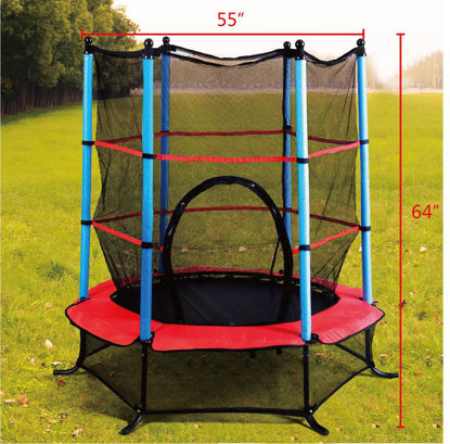 """Picture of Trampoline Jumping with Safety Pad Enclosure Combo Exercise 55"""""""