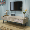 "Picture of TV Cabinet with 3 Drawers 47"" - Gray"