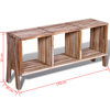 Picture of TV Cabinet with 3 Shelves Stackable - Reclaimed Teak