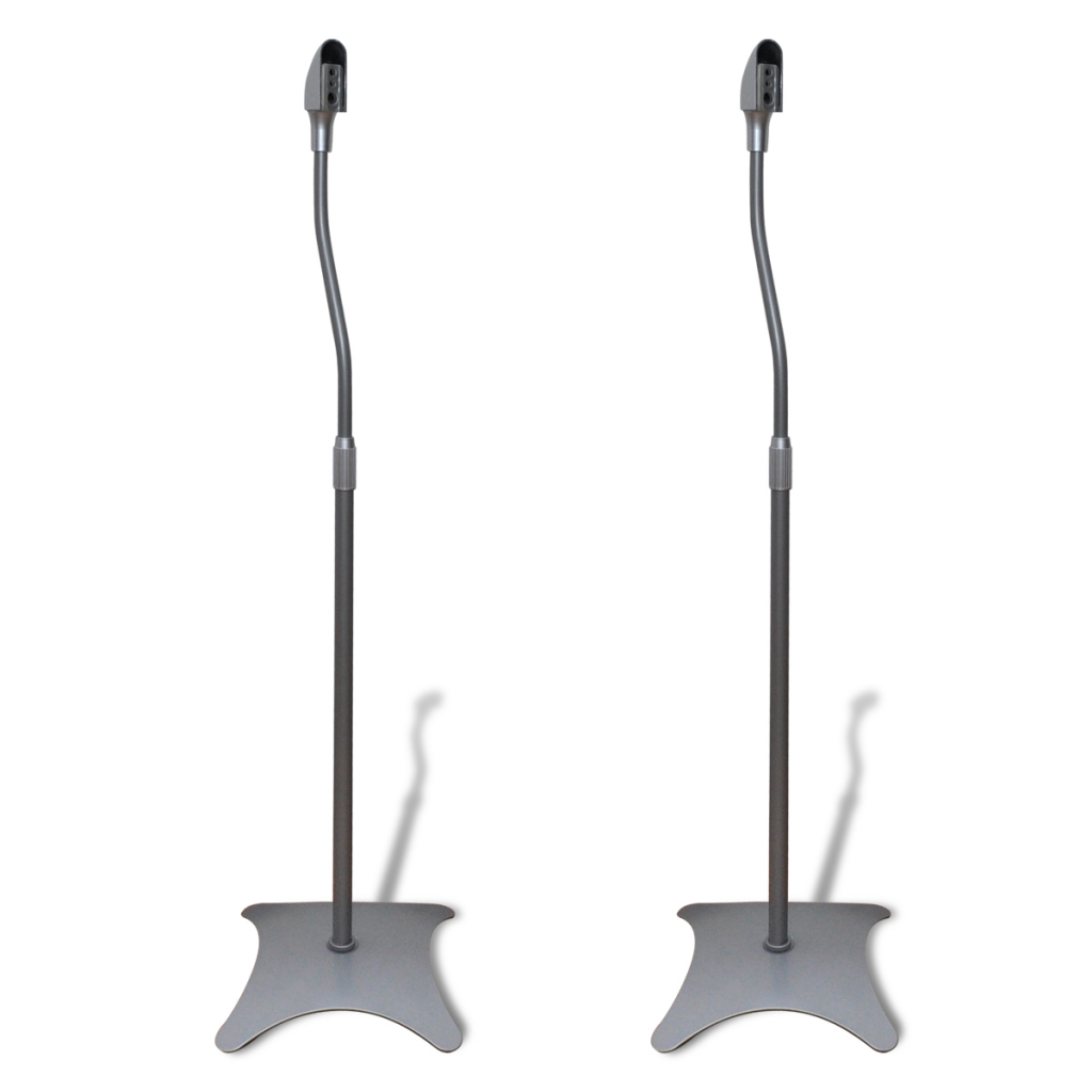 Picture of Universal Home Surround Sound Floor Speaker Stand 2 pcs - Silver