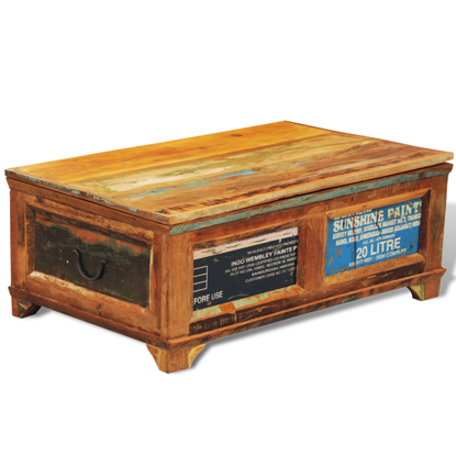 Picture of Vintage Antique-style Storage Box Coffee Table - Reclaimed Wood
