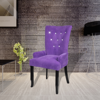 Picture of Dining Armchair Velvet Chair - Purple