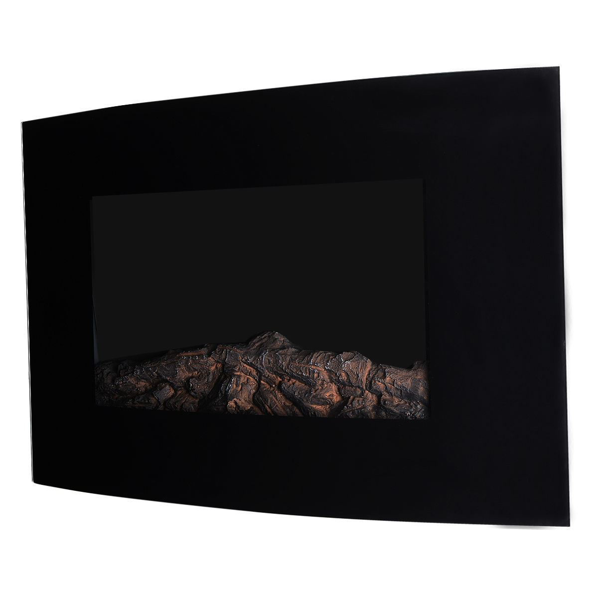 """Picture of Wall Mount Adjustable Electric Fireplace with Remote 1500W 35"""""""
