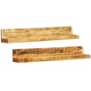 Picture of Wall Mounted Display Shelf - 2 pcs Solid Mango Wood