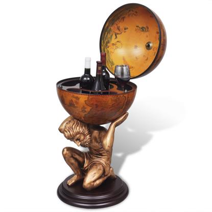 Picture of Wine Cabinet Globe Bar - Atlas