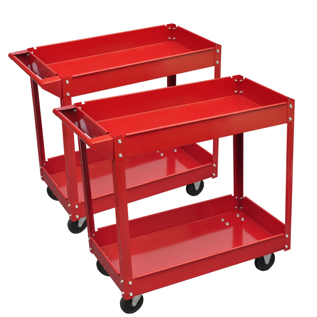 Picture of Workshop Tool Trolley 220 lb 2 Shelves - 2 pcs