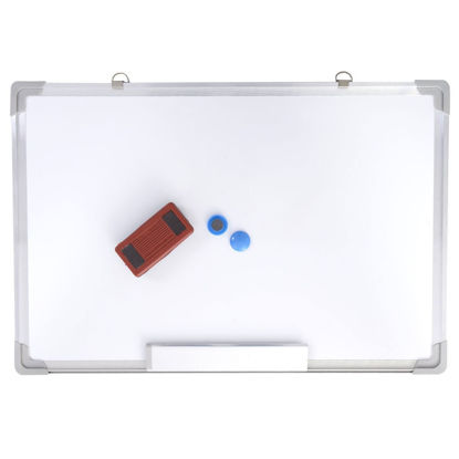 "Picture of Writing White Board with Eraser Magnetic Dry 24"" x 16"""