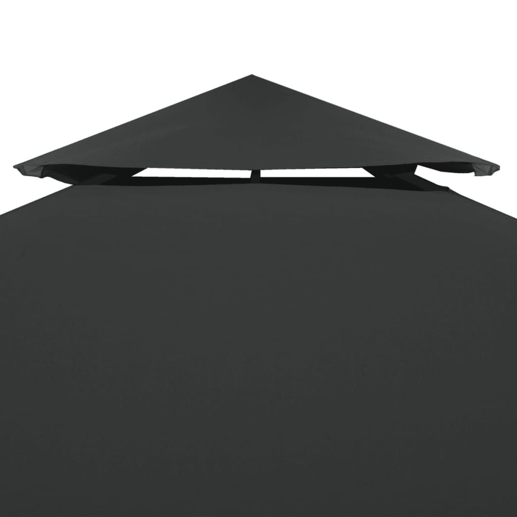Picture of Outdoor Gazebo Top Cover - 2-Tier Anthracite