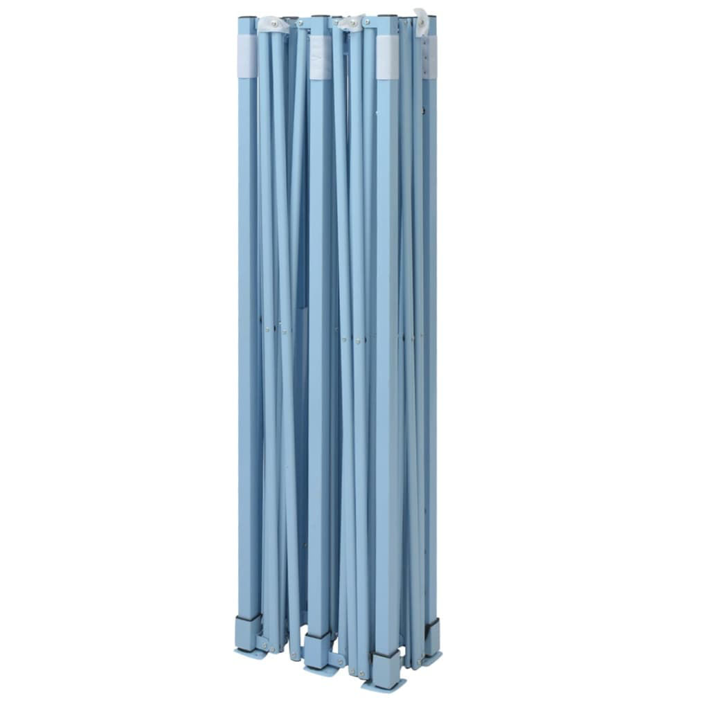Picture of Outdoor Steel Gazebo Folding Party Tent with 4 Sidewalls - Blue