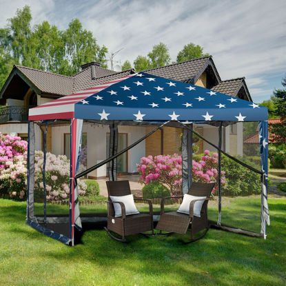 Picture of Outdoor 10' x 10' Pop-Up Tent with Mesh Walls